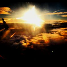 Sunrise from the plane over Spain
