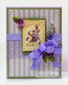 Violets Card -  Graphic 45 Secret Garden