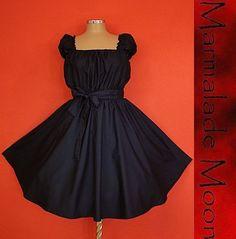 50s RockaBilly swinG Black Pin Up DresS Plus Size 20 22 24