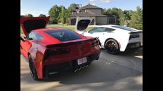 Red 2017 Grand Sport vs White 2017 Z06 Corvette - YouTube