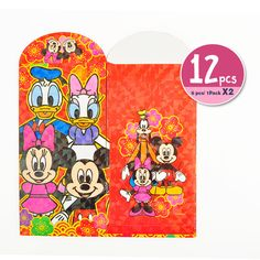 1052ac69d8d0 Disney Stars Mickey Minnie Chinese New Year Red Envelopes Bling Packet 12  pcs