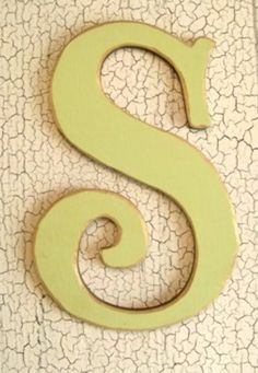 Wall Letter S and Crackle Paint Abc Letra, Alphabet Photography, Crackle Painting, Letter Wall, Alphabet Letters, Weekend Projects, New Living Room, Personalized Signs, Letters And Numbers