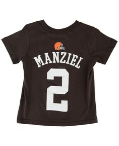 Outerstuff Toddlers' Short-Sleeve Johnny Manziel Cleveland Browns Player T-Shirt