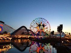 Paradise Pier at Disney California Adventure #DCAToday #Disneyland #Sunset #Photography #Travel #Disney