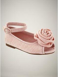 peep toe rosette shoes  wispy pink   34.95  5-6-7-8-9-10-11