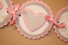 Heart or Cupcake Girl Shower/Birthday Banner by SouthernSmithAndCo, $25.00