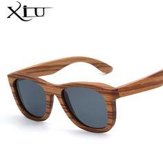 3cde84478c6 Wood Sunlasses Men Flat Top Sunglass Women fashion Glasses