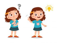 Garota de garoto pensando cara Vetor Pre... | Premium Vector #Freepik #vector #pessoas Kids Cartoon Characters, Cartoon Kids, Art Drawings For Kids, Cute Drawings, Make A Family Tree, Character Art, Character Design, Flashcards For Kids, Cartoon Clip