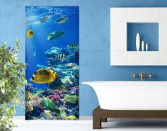 Selbstklebende Türtapete Underwater Lights
