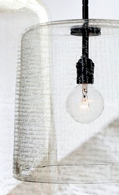 Word pendant by HOLLY HUNT