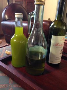 Here is the brand new 2013 #olive oil on the left next to the last of the 2012 oil on the right....see the difference?