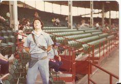 "Brandon Medow with Mark ""Nerd"" Rosenfeld behind him. 1975."