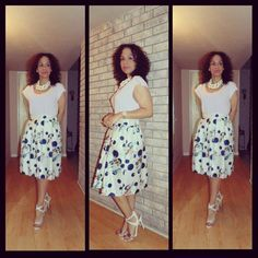 OOTD: Monday Pastel's Today it is one of those days that i will let my outfit do all the talkibg, but first check out #Orly my beautiful Summer sandals from @shoedazzle   To read more about this #LatinaFashionDiary visit www.facebook.com/MadForFashionForLess #latinafashiondiaries #latinafashionblogger #lookforless #outfitideas #StilettoSociety #ambsdr #StyleHunters #realoutfitgram