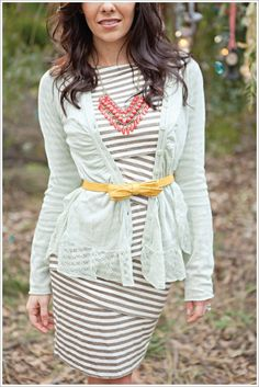 I love the dress and cami! I dont know about that belt...