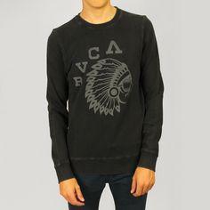 RVCA Mens Chief Crew: Black £50.00