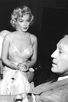 Marilyn and Jack Benny at The Children's Benefit Shrine Auditorium on December 4th 1953