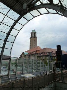 Rathaus Spandau aus Bahnhof Berlin-Spandau
