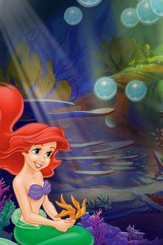 Disney mermaid iPhone wallpaper background