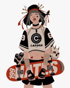 Como un visual mashup de simbología japonesa, retro-futurismo hip-hop y cultura street. Así se presentan las particulares ilustraciones del argentino Mau Lencinas a.k.a. 199HATEs. Quien no niega su fuerte inspiración por el 'Akira' de Katsuhiro Otomo y los avatares de Gorillaz, representando sus particulares demonios juveniles vestidos con codiciado streetwear y potentes sneakers. Ligeramente parodiado en algunas ocasiones.