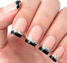 Black French Manicure Designs