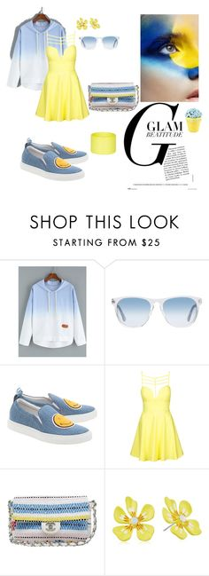 """""""Glam"""" by agnesmakoni ❤ liked on Polyvore featuring Oliver Peoples, Joshua's, Topshop, Chanel, Betsey Johnson and Dsquared2"""