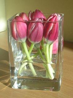 simple 6 bud tulip diy centerpiece