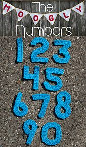 Ravelry: The Moogly Crochet Numbers pattern by Tamara Kelly