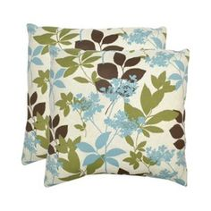 throw pillows--like the dark brown, green and blue together--for living room?