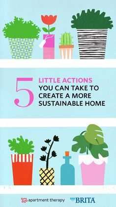 Looking for some easy ways to go green at home? Here are 5 little changes that you can make today that turn into big environmental gains in the long run. #sponsored #Brita
