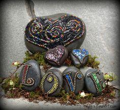 mosaic garden stones - Google Search