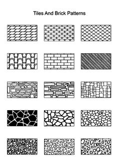 tiles and brick patterns and pen and ink tutorial
