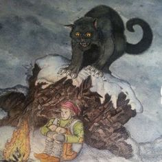 The Yule Cat is a giant cat found in Iceland. The Yule Cat is a large grey cat with yellow eyes and sharp claws and teeth. The Yule Cat is owned by the ogre Gryla and is said to eat anyone who did not. Folklore, Yule Cat, Tales For Children, Horse Skull, Giant Cat, Christmas Tale, Christmas Stuff, Vintage Christmas, Christmas Crafts