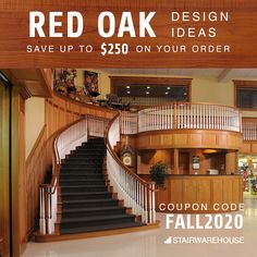 Save up to $250 on your order AND Free shipping on all orders $49 or more using coupon code FALL2020 We have tons of inventory of Red Oak. Order now and get it fast to start your project now and be able to get it finished before the Turkey comes out of the oven!
