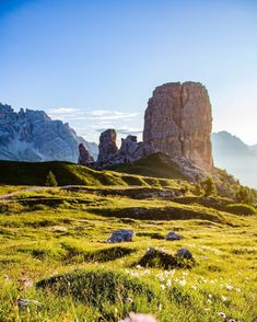 """Giacomo Gorza recommends visiting Cinque Torri because """"the sunset and sunrise here are something unique and spectacular""""."""