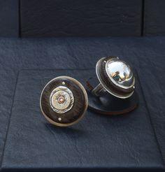 Platos voladores, hechos en plata 925 y diferentes maderas duras. Ajustables Cufflinks, Accessories, Facts, Dishes, Jewelery