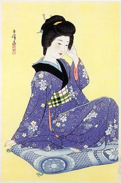 Young Girl  by Hakuho Hirano, 1936  (published by Watanabe Shozaburo)