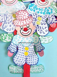 maestra maria – Page 3 – Maestramaria Animal Crafts For Kids, Art For Kids, Clown Cirque, Theme Carnaval, Clown Crafts, Diy And Crafts, Arts And Crafts, Art Plastique, Diy Cards