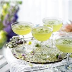 How Was Your Day: Cucumber Mint Elderflower Champagne Cocktails