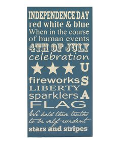 Blue & Cream Fourth of July Plaque