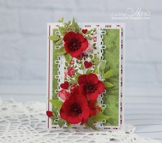 Card with red flowers by Monia - Cards and Paper Crafts at Splitcoaststampers