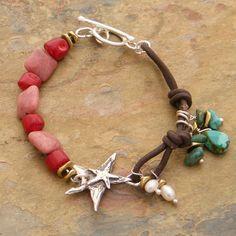 (http://www.elizabethplumbjewelry.com/dancing-stars-rhondonite-and-coral-bracelet/)