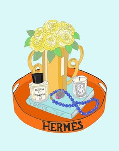 Hermes Tray Large by emmakisstina on Etsy, kr200.00    Finally bought this, so pretty.