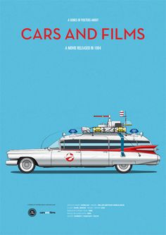 Ghostbusters - Cars And Films #1. by Jesús Prudencio, via Behance