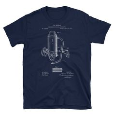 Fire Extinguishing Apparatus T-shirt, Firefighter's Patent Print T-shirt, Firefighter's Men's T-shirt, Firefighter's Unisex T-shirt Hobbies For Men, Firefighter Gifts, Patent Prints, Boyfriend Gifts, Art Day, Cool T Shirts, Digital Prints, Trending Outfits, Mens Tops