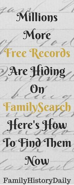 Free Genealogy Research Tips: Find hidden genealogy record collections on FamilySearch with this trick and grow your family tree for free!