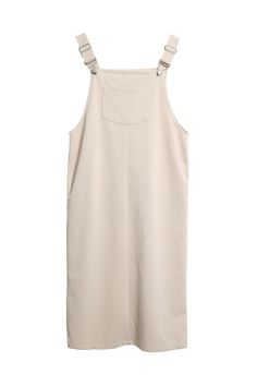 Overall Dress Beige (SALE! 50% off!) http://www.thewhitepepper.com/collections/sale-dresses/products/overall-dress-beige