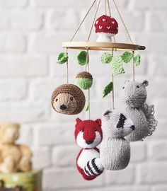 Ravelry: Spring woodland tales animal mobile pattern by Amanda Berry in issue 169 of Simply Knitting