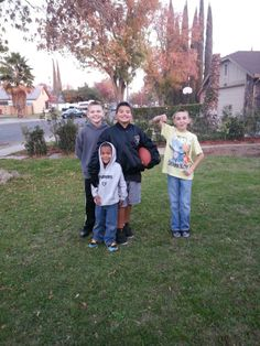 My two grandsons Raidered Up Baby, and my two nephews......Not gonna say who their team is lol