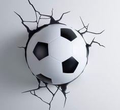 Voetbal 3D LED lamp