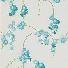 Teal / Neutral - 110131 - Giselle - Delphine - Harlequin Wallpaper